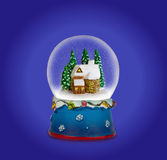Christmas snow globe. Can be used as a Christmas or a New Year gift or symbol stock photos
