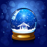 Christmas snow globe royalty free illustration