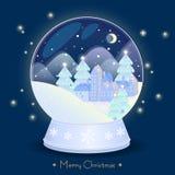 Christmas snow globe Stock Photo