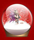 Christmas snow globe with fairy Stock Photos