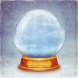 Christmas snow globe on grunge background Royalty Free Stock Images