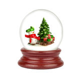 Christmas snow globe isolated on white Stock Image