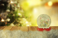 Christmas snow globe.New year Stock Images