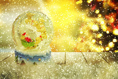 Christmas snow globe.New year. Christmas snow globe.Christmas background Royalty Free Stock Photos
