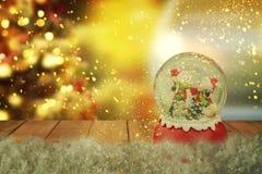 Christmas snow globe.New year. Christmas snow globe.Christmas background Royalty Free Stock Photo