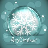 Christmas Snow globe with snowflake Stock Photography