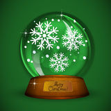 Christmas Snow globe with snowflake Royalty Free Stock Photos