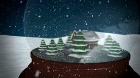 Christmas Snow globe stock video footage