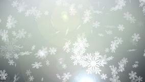 Christmas Snow globe Snowflake with Snowfall on White Background stock video footage