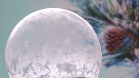 Christmas Snow Globe Snowflake stock footage