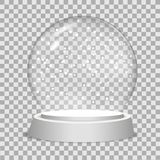 Christmas snow globe on transparent background.  Vector illustration. Christmas snow globe on transparent background.  Vector illustration Stock Photography