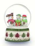 Christmas snow globe on white background. Can be used as a Chris Stock Photo