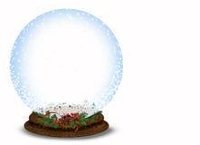 Christmas snow globe on white Stock Image