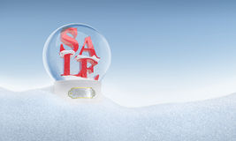 Christmas snow globe with word Sale inside 2016 Royalty Free Stock Image