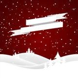 Christmas snow hills Royalty Free Stock Image