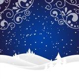 Christmas snow hills Stock Photos