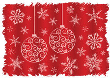Christmas snow illustration Royalty Free Stock Images