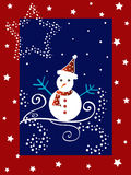 Christmas snow man Stock Image