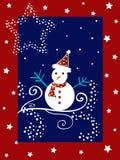 Christmas snow man stock image