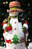 Christmas snow man decoration Royalty Free Stock Photos