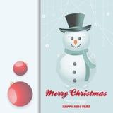 Christmas snow man invite Royalty Free Stock Image