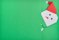 Snow man. Christmas snow man under green background vector illustration