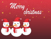 Christmas and snow man Stock Photos
