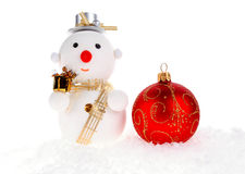 Christmas snow men Royalty Free Stock Image