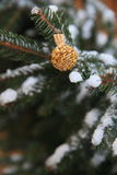 Christmas snow ornament outdoors Stock Image