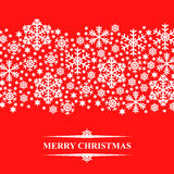 Christmas snow pattern card Royalty Free Stock Images