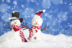 Christmas Snow People stock images