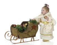 Christmas Snow Princess Stock Photo