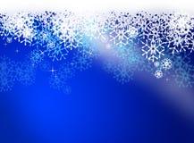 Christmas snow scene Royalty Free Stock Photos