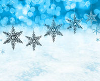 Christmas snow scene Royalty Free Stock Image