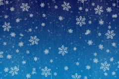 christmas Snow scene card Stock Image
