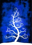 Christmas Snow Tree vector illustration