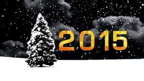 Christmas Snow with tree stock video