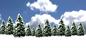Christmas Snow with tree stock video footage