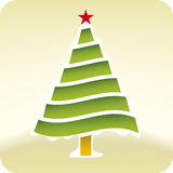 Christmas snow tree (vector) Stock Image