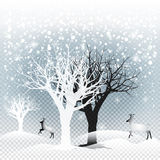 Christmas snow Stock Photos