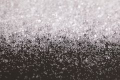 Christmas Snow White Silver Glitter background. Holiday abstract texture Stock Image
