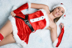 Christmas Snow Woman Royalty Free Stock Images