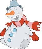 Christmas Snowball. Cartoon Stock Photography