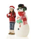 Christmas Snowball War Stock Image