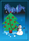 Christmas snowes-vetch. Illustrator 8 /EPS Stock Photography