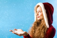 Christmas snowfall Royalty Free Stock Photo