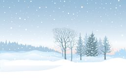 Christmas snowfall background. Snow winter landscape. Merry Chri