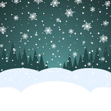 Christmas snowfall card Royalty Free Stock Photos