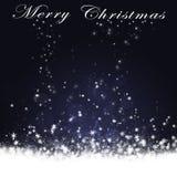 Christmas Snowfall Card Stock Image