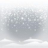 Christmas snowfall Stock Photos
